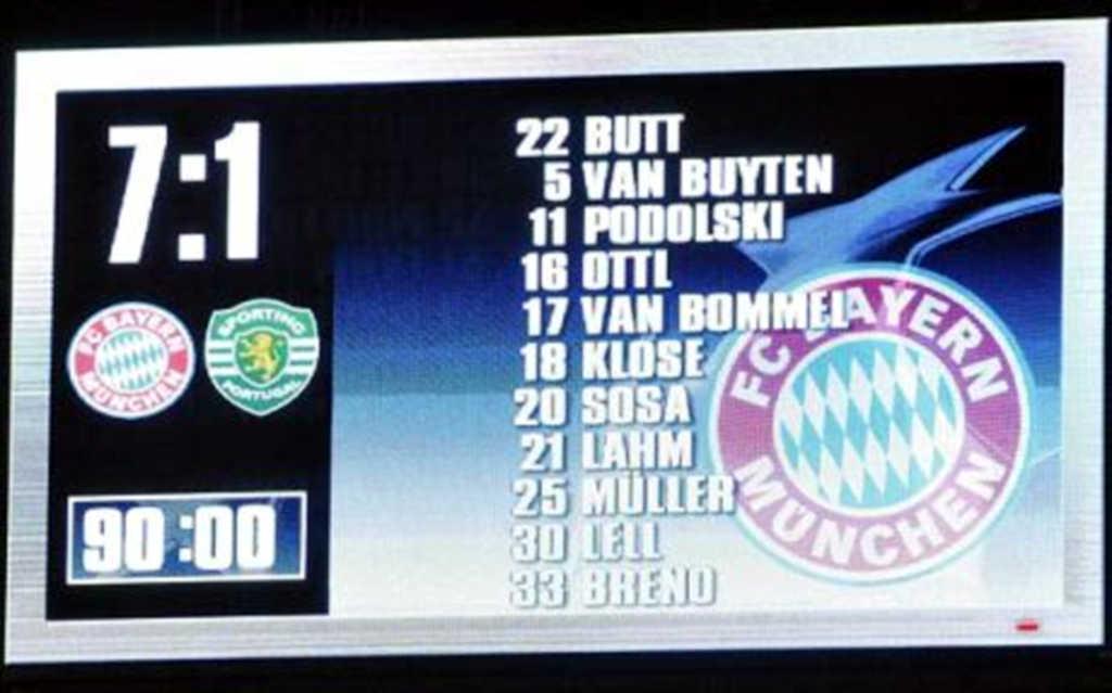 """Após """"massacre"""" em Munique (7-1), imprensa alemã diz que Sporting """"não tem qualidade"""""""