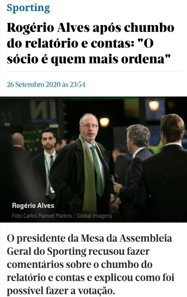 Rogério Alves, sobre o Orçamento e R&C chumbados, já em tempo de pandemia.