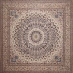 Nain White Square Hand Knotted 13 3 X 13 8 Area Rug 100 11287