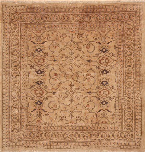 persian ardebil brown square 9 ft and larger wool carpet 11798