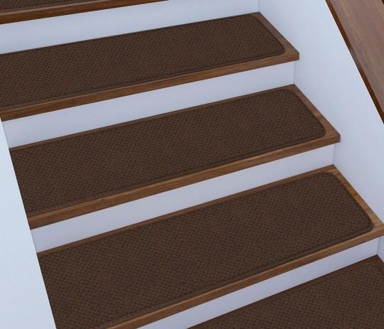 15 Skid Resistant Stair Treads 16 Colors 4 Sizes Rug Street | Outdoor Carpet Stair Treads | Indoor Outdoor | Flooring | Ottomanson Jardin | Non Skid | Anti Slip
