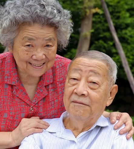 glueckliche Senioren