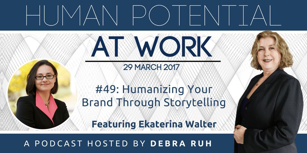 The Episode Flyer for #49 Humanizing Your Brand Through Storytelling