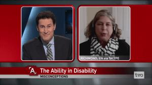 Debra Ruh being interviwed on TVO