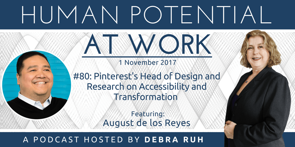 Episode Flyer for #80: Pinterest's Head of Design and Research on Accessibility and Transformation