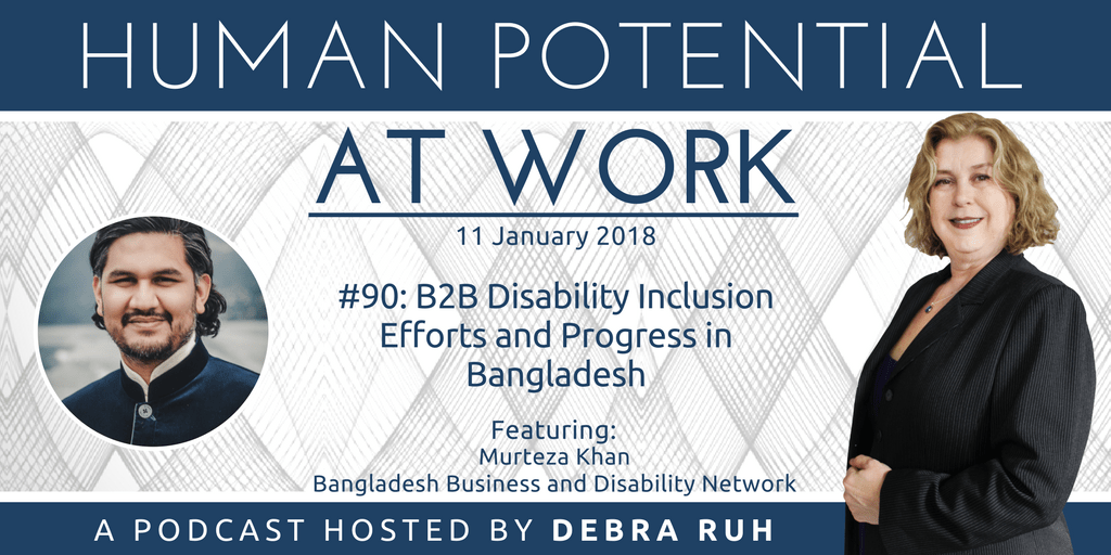 Episode Flyer for #90: B2B Disability Inclusion Efforts and Progress in Bangladesh