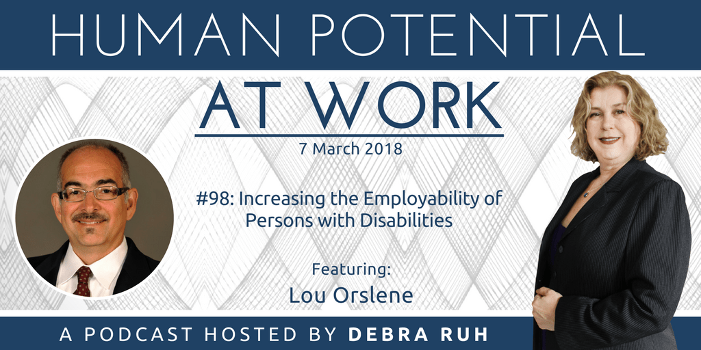 Episode Flyer for #98: Increasing the Employability of Persons with Disabilities