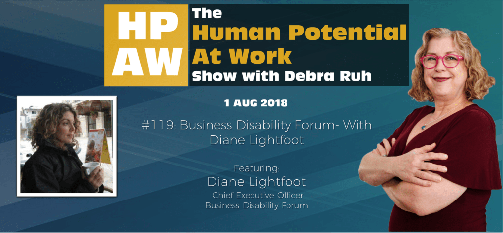 Episode Flyer for #119 Business Disability Forum- With Diane Lightfoo