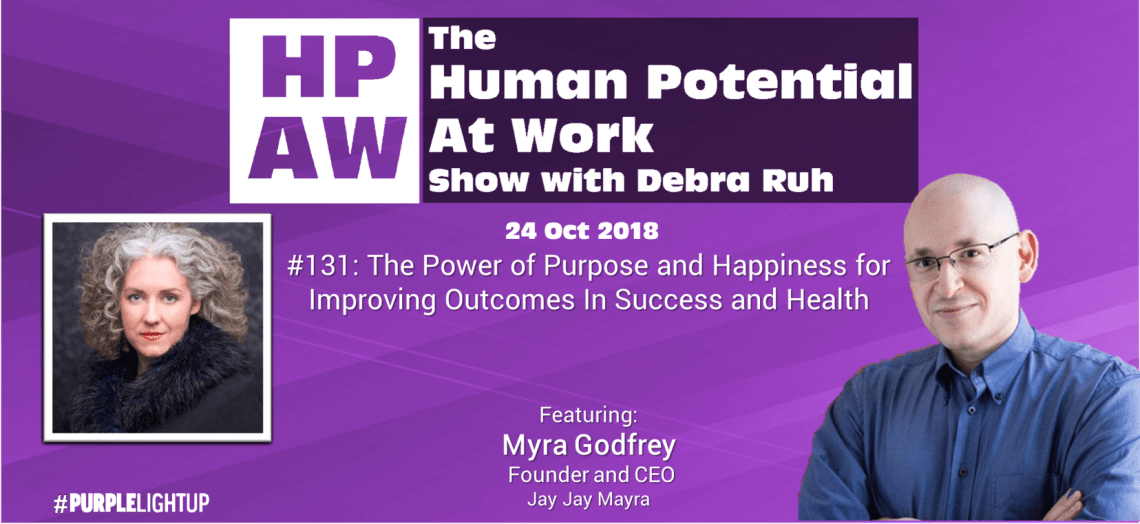 Episode Flyer for #131 The Power of Purpose and Happiness for Improving Outcomes In Success and Heal