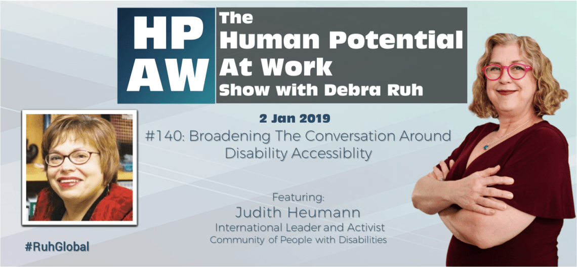 Episode Flyer for #140 Broadening The Conversation Around Disability Accessibility