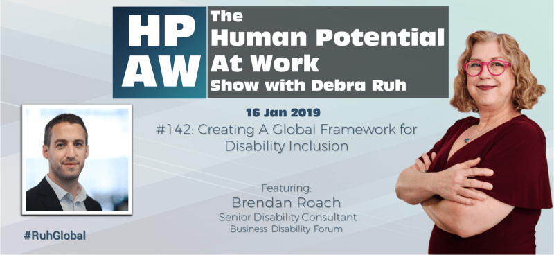 Episode Flyer for #142 Creating A Global Framework for Disability Inclusion