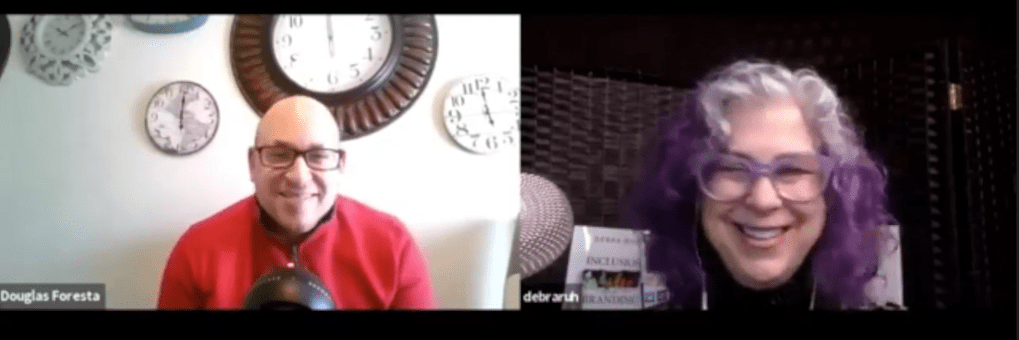Debra Ruh interviewing a guest.