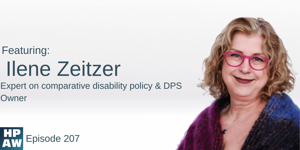 ilene zeitzer expert on comparative disability policy and DPS owner