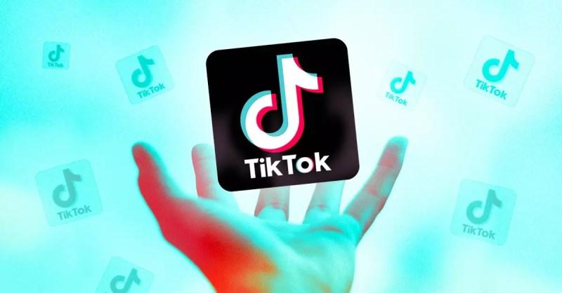 A hand Holding the TikTok icon