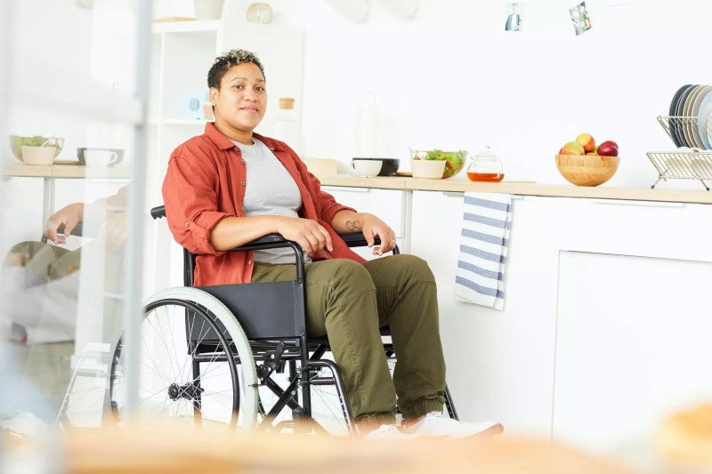 Woman with disabilities