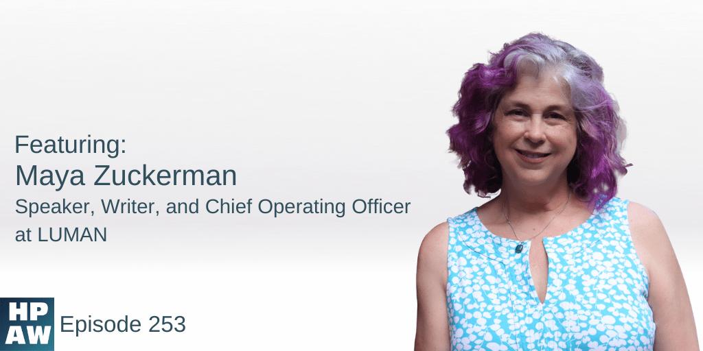Maya Zuckerman Speaker, Writer, and Chief Operating Officer at LUMAN