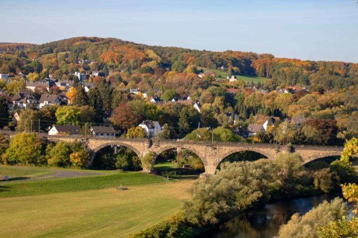Blick auf das Ruhrviadukt