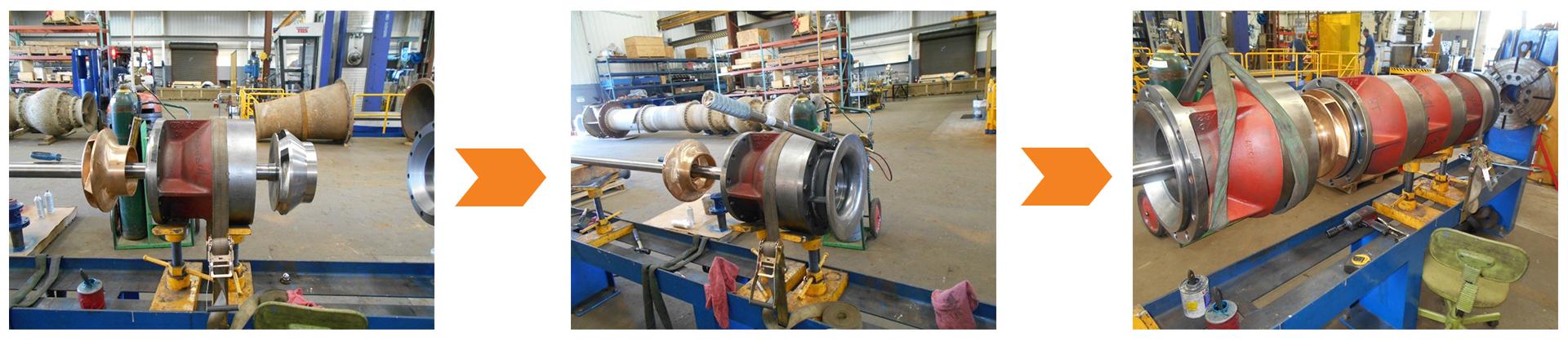 Re-bowl service for Vertical Turbine Pumps