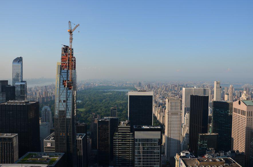 Central Park in New York von oben