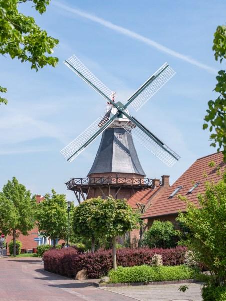Windmühle in Ditzum (Ostfriesland)