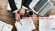 Derecho de información del socio