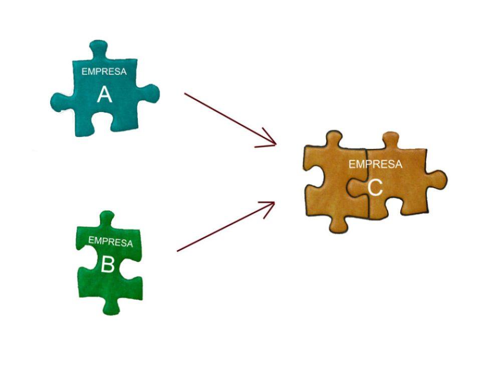 Empresa A y Empresa B se fusionan en una nueva Empresa C