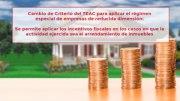 Cambio de Criterio del TEAC para aplicar el régimen especial de empresas de reducida dimensión