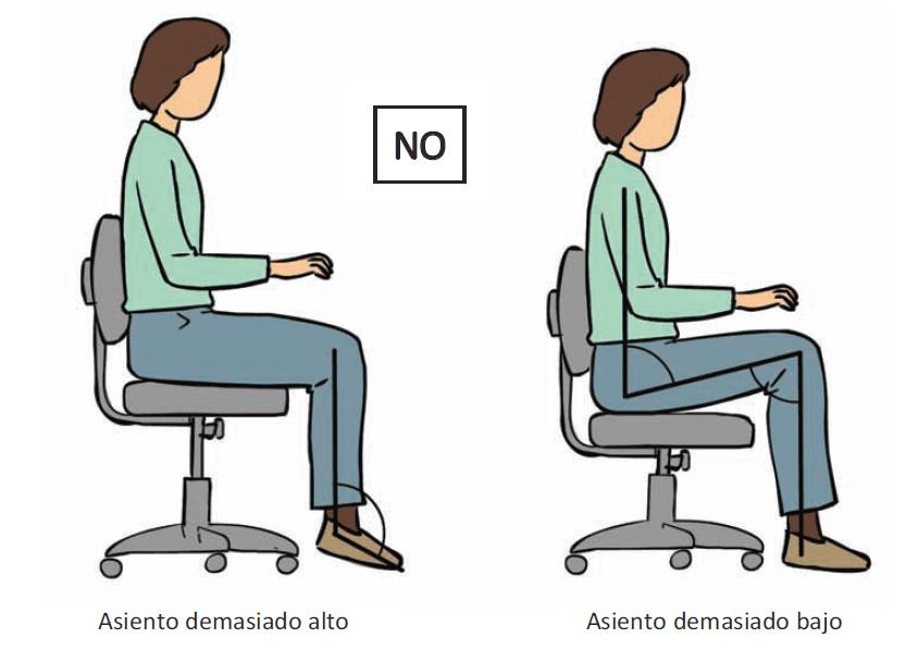 Una mala postura y silla pueden acarrear enfermedades y lesiones profesionales