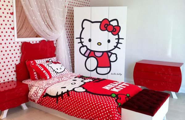 Desain Interior Kamar Anak Minimalis Hello Kitty 2