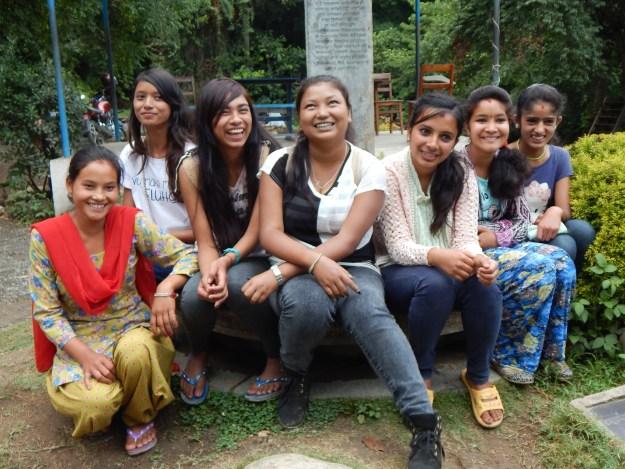 Anju, Jonisha, Rojina, Sonu, Mandira, Anu and Rama from left_ for a group photo