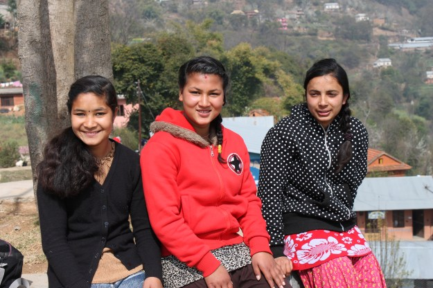 Anu, Pari and Mandira from left to right _our scholars of Setidevi School Sokhel (2)