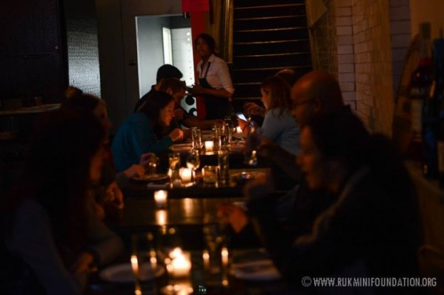 Dinner Was a Lively but Cozy Atmosphere