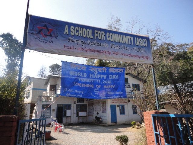 A School for Community was converted to a theater for this occasion
