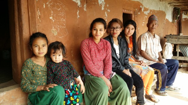 Pramila and Sabina with family of Anju