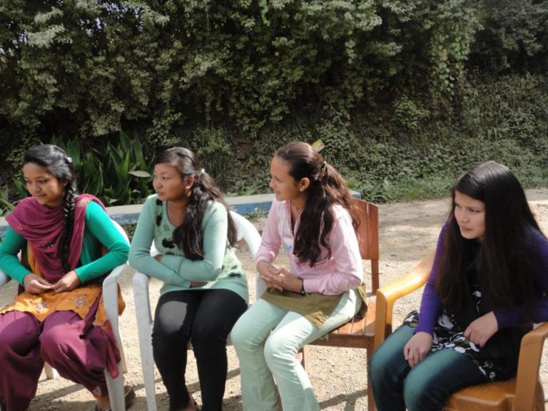 The scholars seemed very relaxed as they interacted with us.