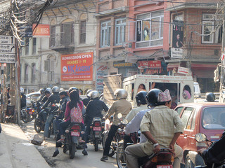 Traffic in Kathmandu can bring everything to a standstill