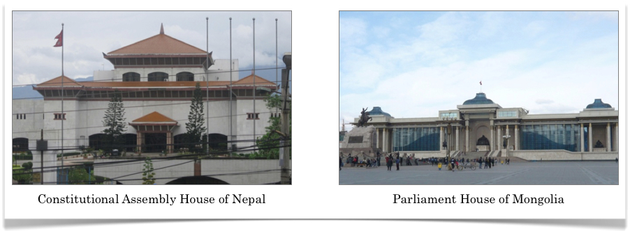 Political Houses in Nepal and Mongolia