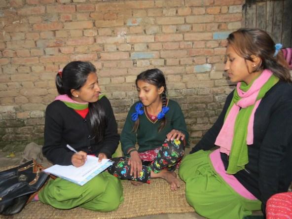 Asmita with Rasmita and Pramila Didi