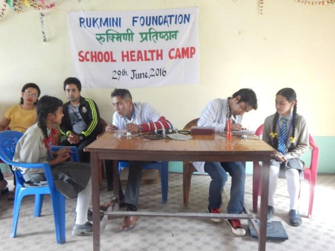 Rukmini Scholar Saru Shrestha finds a doctor at her own school