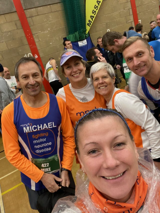 Pre race selfies at St. Neots Half Marathon 2019.