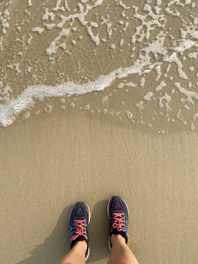 trainers and beach