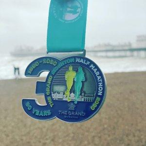Brighton Half Marathon Medal 2020