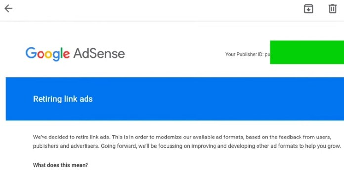 Link Ads Are Being Retired AdSense Update