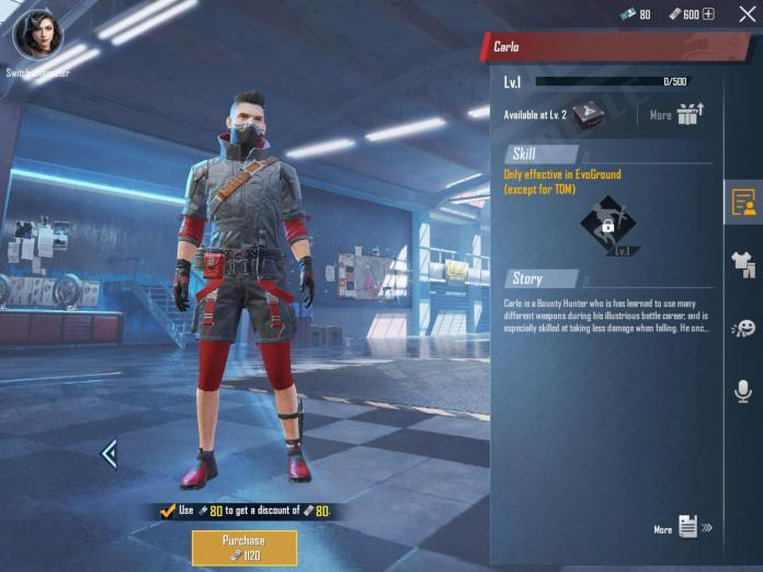 How to unlock Carlo Character in PUBG Mobile?