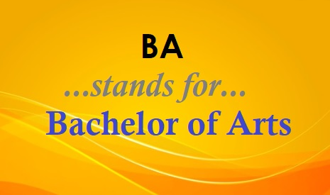 What is the full form of BA?