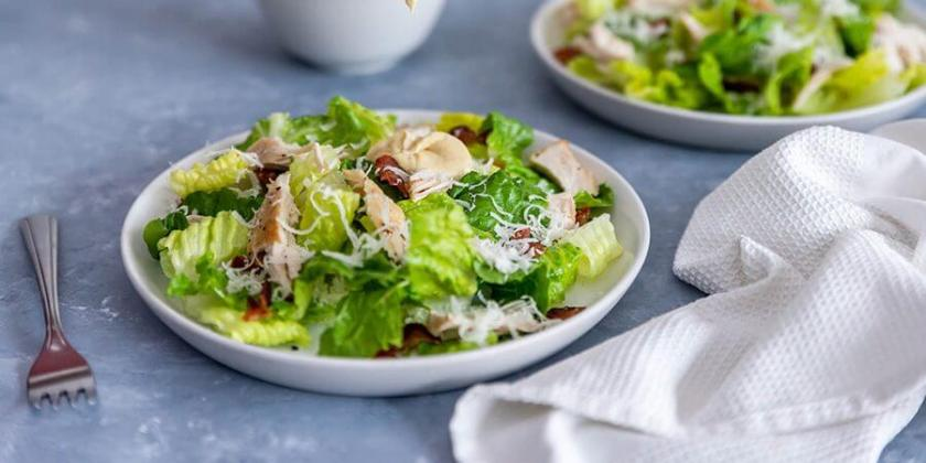 Homemade Keto Caesar Salad