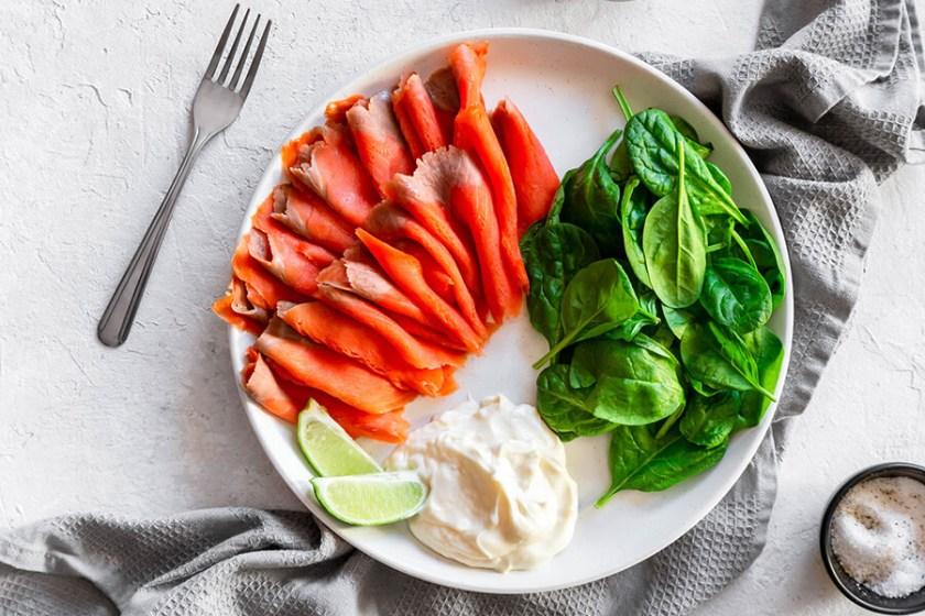 Easy Keto Smoked Salmon Lunch Bowl