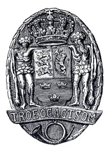 """2.""""Troe og agtsom"""" – enevældens postvæsen var kongens ejendom og postmestrenes troskab var primært rettet mod kongen, ikke kunderne. (Post & Tele Museum.)"""