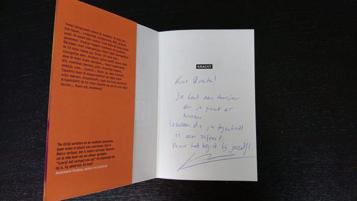Marc de Hond heeft mijn boek gesigneerd