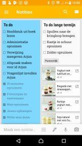 Google Keep op mijn telefoon